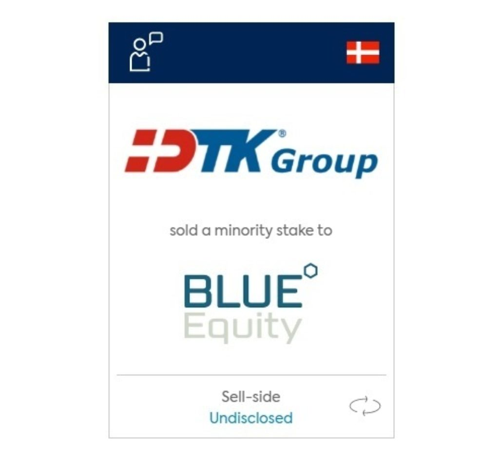 DTK Blue Equity tombstone