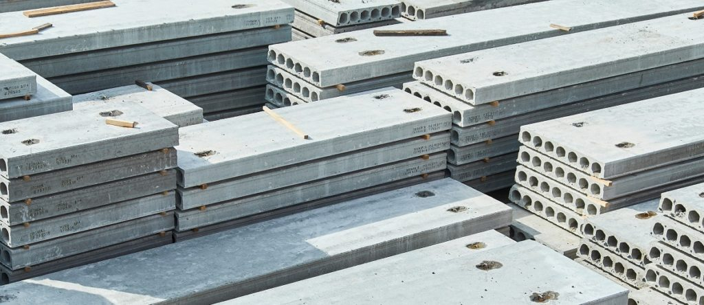 Concrete slabs building products