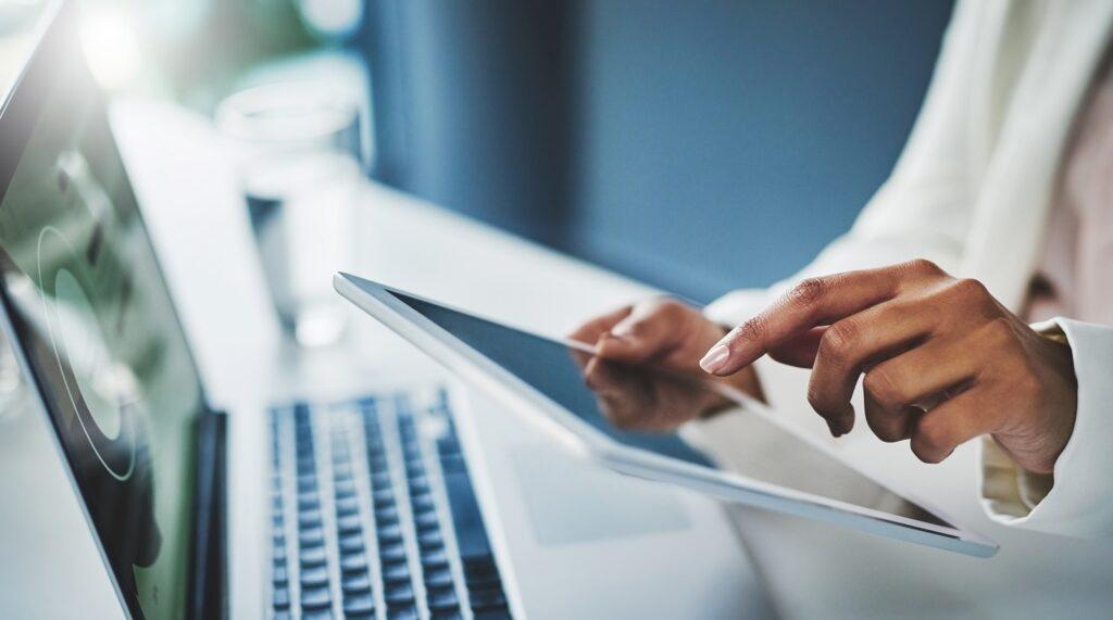 Tablet laptop typing tech