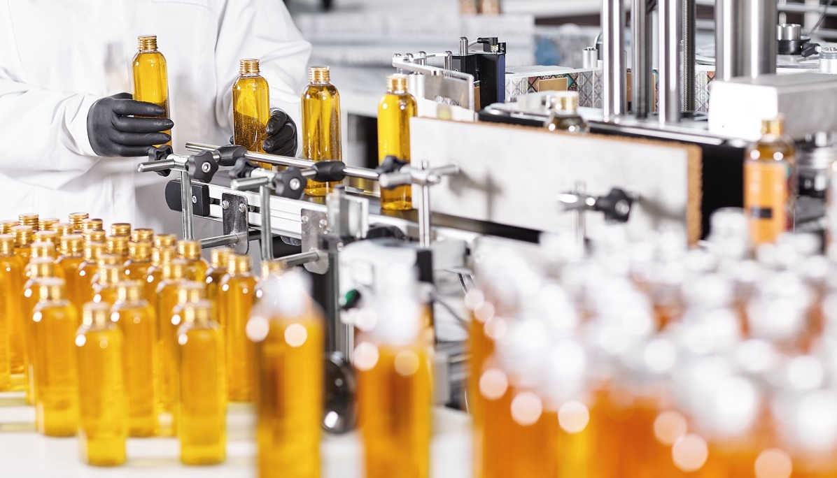 Production factory bottles manufacturing