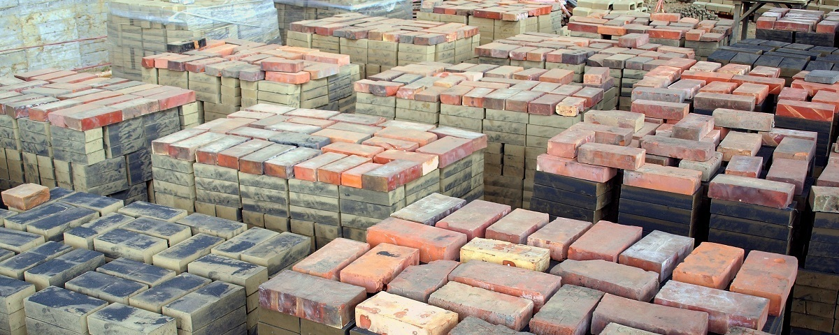 Stacks of bricks building products 01