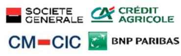 Image of Société Générale, Crédit Agricole, CM-CIC, and BNP Paribas Company Logo