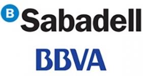 Image of BBVA and Banco Sabadell Company Logo