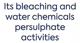 Image of its bleaching and water chemicals persulphate activities Company Logo