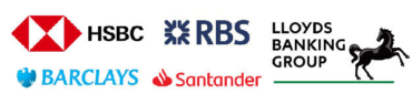 Image of Lloyds Banking Group, RBS, HSBC, Barclays and Santander Company Logo