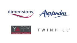 Image of Dimensions, Alexandra, Yaffy and Twin Hill Company Logo