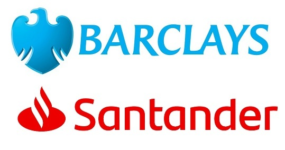 Image of Barclays and Santander Company Logo