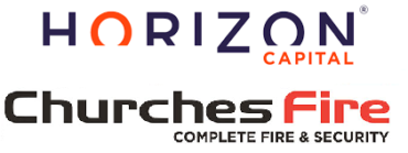 Image of Horizone backed Churches Fire & Security Company Logo