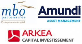 Image of MBO Partenaires, Amundi PEF, Arkéa Capital Company Logo
