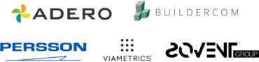 Image of Persson Innovation, SoVent, Viametrics, Buildercom and Adero Company Logo
