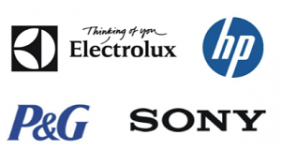 Image of the shareholders Electrolux France SAS, Hewlett-Packard France SAS, Procter & Gamble Manufacturing GmbH and Sony Europe Limited Company Logo